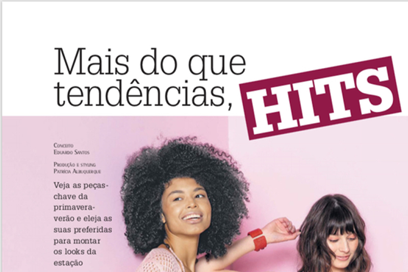 Revista Donna - Hits - no salão de beleza Maison 31 em Porto Alegre