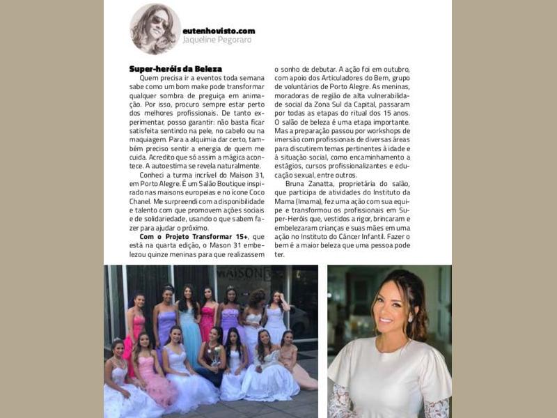 Imagem - Salão de beleza Maison 31 é notícia na Revista Ba